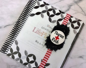 "Red, black and white glitter vinyl ""Nurses Rock"" Planner Band *Limited Edition*"