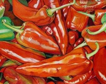 """Peppers - 8x10"""" print"""