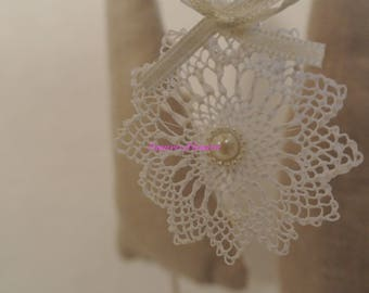 lace Christmas tree decorations