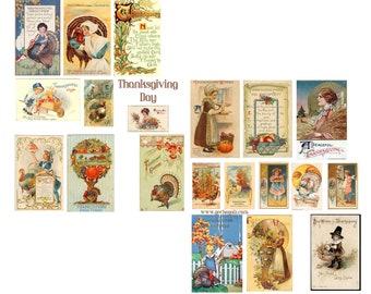 Thanksgiving Day Digital Collage Sheet