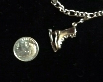 On Sale-SOLID sterling ice skate charm-FREE SHIPPING