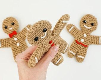 PDF Gingerbread Man amigurumi CROCHET PATTERN