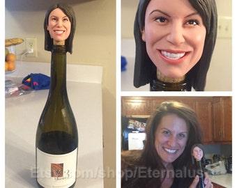 custom Wine stopper doll