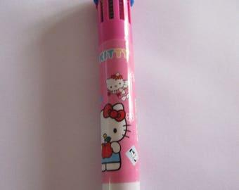 Ballpoint pen 10 pink colors