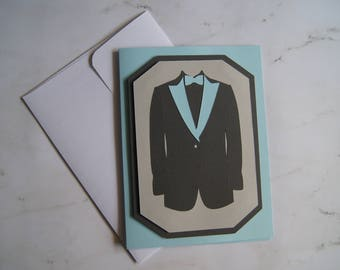 "Father's Day 3D Card ""Suit & Bowtie"""