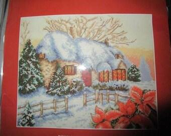 Winter Cottage cross stitch