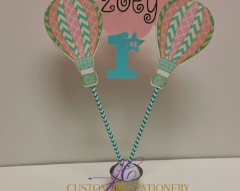 Hot Air Balloon Cake Topper Only