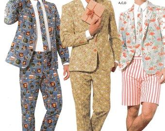 Hey Dorks and Nerds! Simplicity CRAZY MEN'S SUIT Costume Pattern 8528 Men's Sizes 44 46 48 50 52