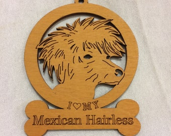 Mexican Hairless Dog Ornament