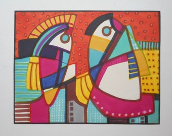 "1980s Abstract Color Study for ""Chiefs #2"", marker ink on paper"