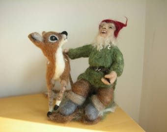 Naald vilten Gnome en Faun gratis levering In het Verenigd Koninkrijk