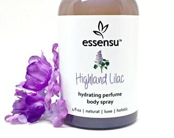 Highland Lilac Hydrating Natural Perfume Body Spray | Hair Perfume | Eco Friendly | Non-Toxic Fragrance | Vegan | No Gluten or Parabens 4 oz