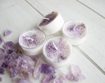 Blossom//Bergamot Violet Citron Scented//Soy Wax Tea Light Candles
