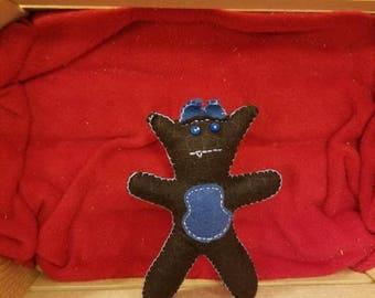 Blue accent dragon doll