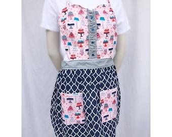 Peachy cakes sweetheart apron