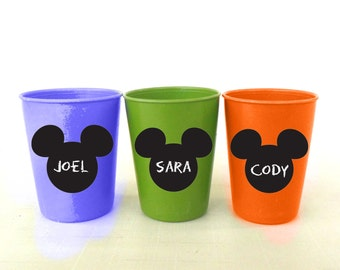 Mickey Mouse Chalkboard Vinyl Labels -set of 10, 20, 30 or 50 labels - Party, Playroom, Mickey Mouse, Favor