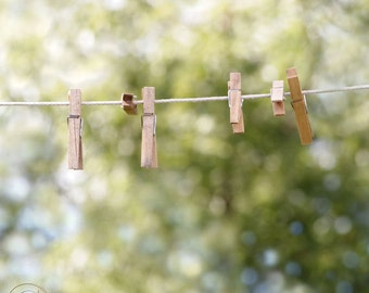 Clothespins on the Clothesline Fine Art Photography Print, A Simple Life, Country Living Print