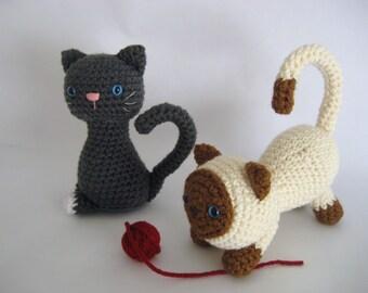 Sale - Amigurumi Crochet Kitten Pattern Digital Download