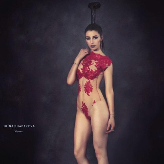 Irina Shabayeva lace body suit