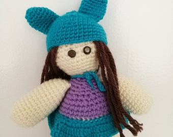 Dolly with rabbit ears hat