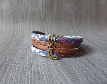 libertyet Moon - magnetic clasp leather bracelet