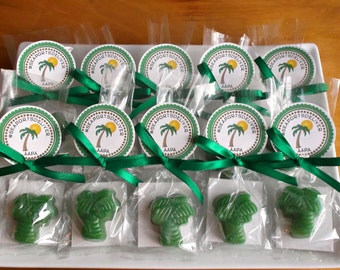 Palm Tree Party Favors - Palm Tree Soap Favors, Florida Party, Tropical Party Favor, Beach Party Favors, Luau Party Favors - Set of 10