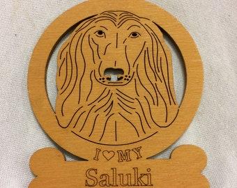 Saluki Dog Ornament