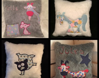 Soft kids decorative cushion to order