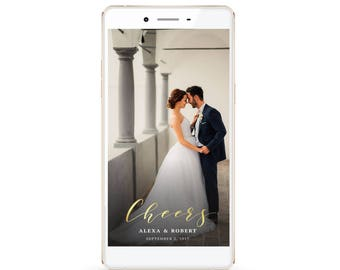 Cheers Wedding Snapchat Filter/Elegant Wedding Filter/Digital Design/Gold Snapchat Filter/Rose Gold Snapchat Filter/Silver Snapchat Filter