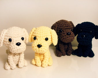 Labrador Puppy Amigurumi Doll