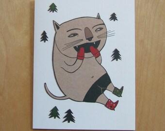 Christmas Card - Meow Meow