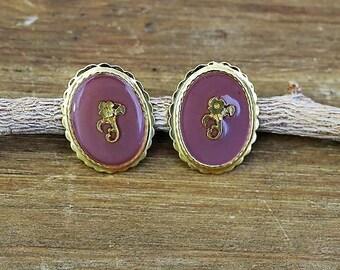 MOTHERS DAY GIFT, Enamel Oval Earrings, Pink Stud Earrings, Enamel Stud Earrings, Oval Earrings, Stud Earrings, Post Earrings, Pink Earrings