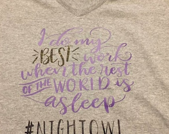 The Nightowl crafters  Tee