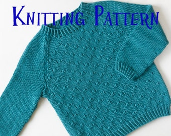 Knit toddler sweater etsy pdf knitting pattern little heath pullover ages 1 10 years child sweater dt1010fo