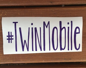 Twin Mobile Decal, #twinmobile, Twin Mom Car Decal, Mom of Twins, #twinmom, Boy Twins, Girl Twins, Twins Car Decal