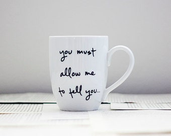 Mr. Darcy Proposal Mug - Jane Austen