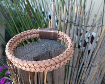 Bolo Braided leather bracelets, Men's women's Braided bolo Braided bracelets