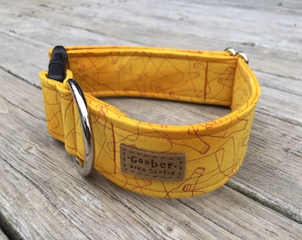 99 Bottles of Beer on the Wall Goober Dog Collar, Yellow, Brown, Nova Scotia, Canada