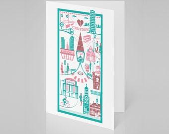 Croydon Card | London card | Croydon print | London illustration | Croydon art | Housewarming card | CR0 art print