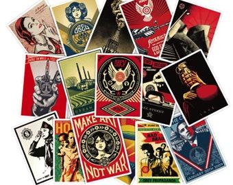 68 PC Retro Variety Mixed Stickers Music Art Logo Adhesives TS418