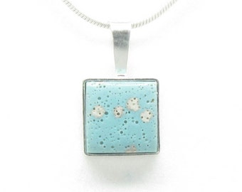 Sterling Silver Leland Blue Square Necklace