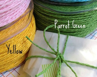 10 Yards • May Arts 2 MM Paper Cord Ribbon • Paper Twine • Paper String • Twisted Paper Cord • Gift Wrap