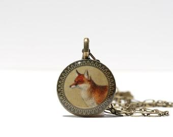 Resin Fox Pendant - Fox Pendant - Fox Necklace - Fox Jewelry - Fox - Wild Animal Jewelry - Resin Pendant - Red Fox - Animal Jewelry - Resin