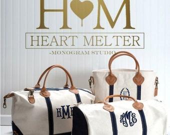 Monogrammed Travel Bags - Travel Set - Monogrammed Duffle Bags - Monogrammed Overnight Bag - Carry ON Bag - Bridal Gift