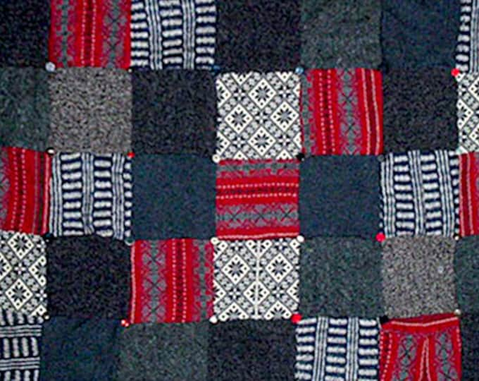"""My """"Hot Charcoal"""" Wool Sweater Quilt — I can make one similar for you!"""
