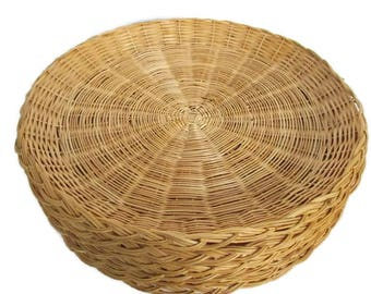 8 Vintage Wicker Bamboo Paper Plate Holders