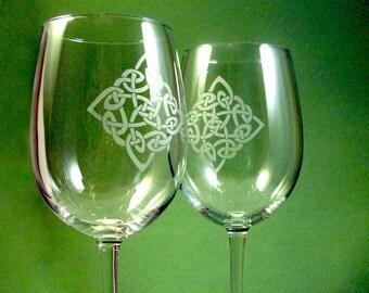 1 verre de vin - diamant celtique