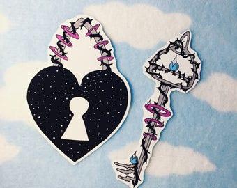 Key To My Heart Anti-Valentine Sticker Set
