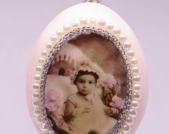 Real egg ornament