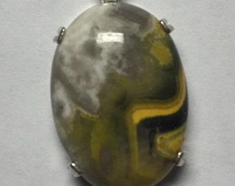 Sterling Silver Bumblebee Jasper Pendant
